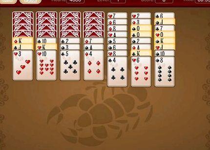 игра в карты пасьянс косынка 2 масти играть бесплатно косынка двойная
