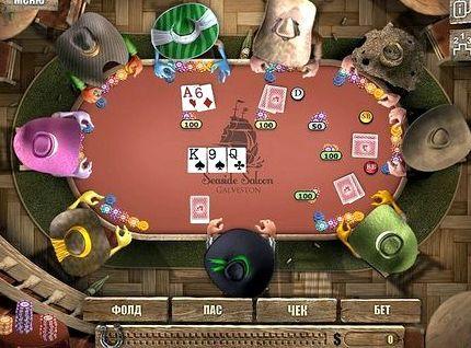 играет голая в карты