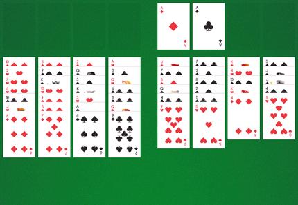 пасьянс паук 2 масти карта бита играть бесплатно